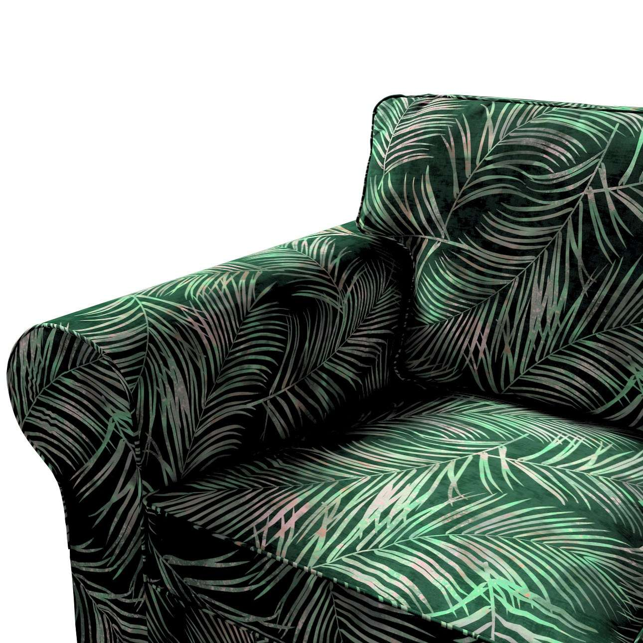Pokrowiec na sofę Ektorp 3-osobową, rozkładaną, PIXBO w kolekcji Velvet, tkanina: 704-21