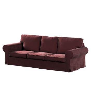 Pokrowiec na sofę Ektorp 3-osobową, rozkładaną, PIXBO w kolekcji Velvet, tkanina: 704-26