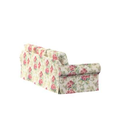 Bezug für Ektorp 3-Sitzer Schlafsofa, ALTES Modell 143-40 rosa-grün-ecru Kollektion Londres