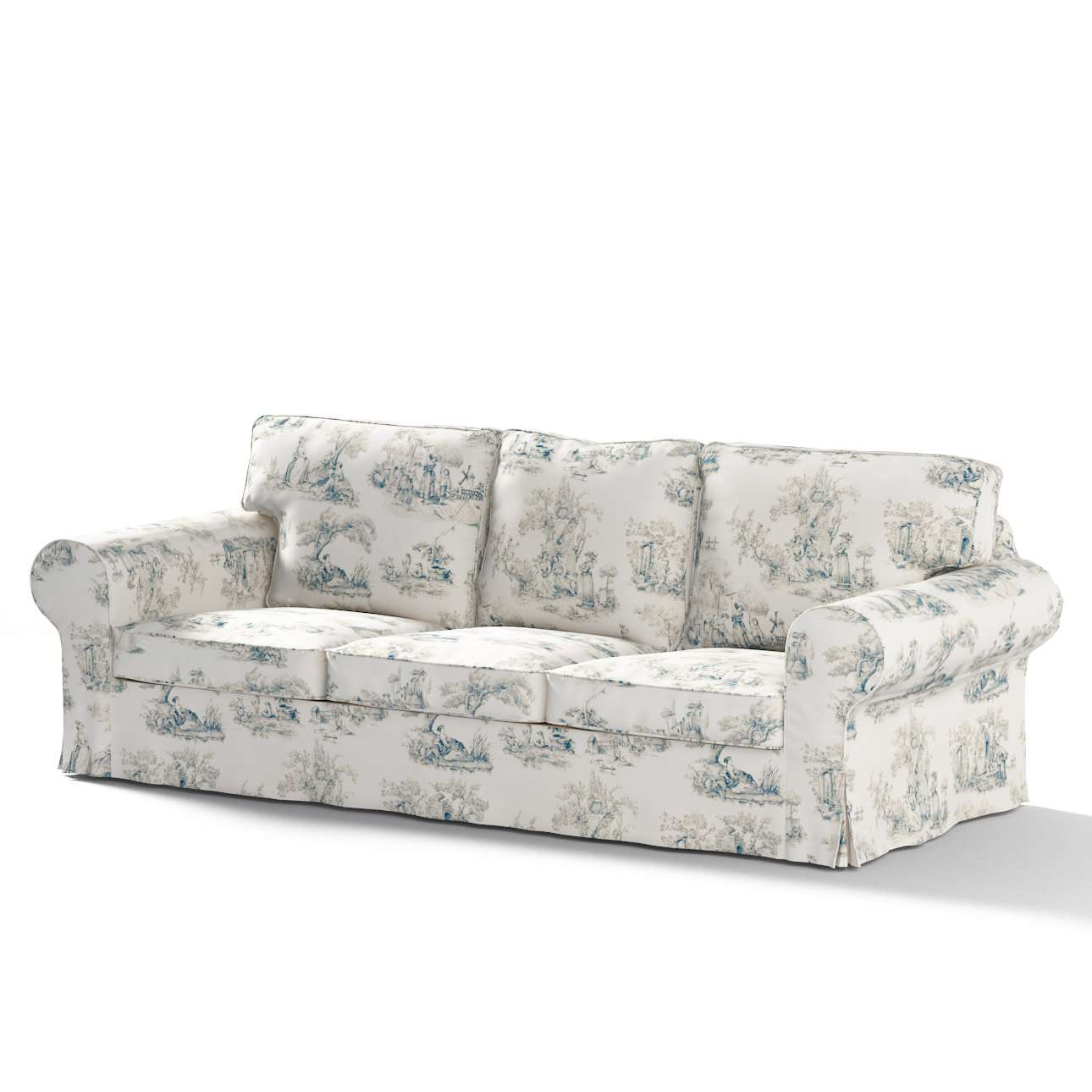 Pokrowiec na sofę Ektorp 3-osobową, rozkładaną STARY MODEL Sofa Ektorp 3-osobowa rozkładana w kolekcji Avinon, tkanina: 132-66