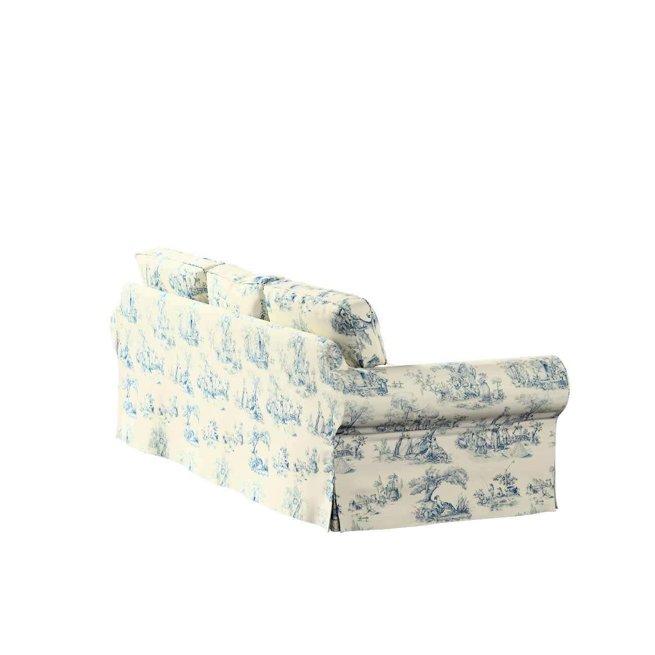Potah na pohovku IKEA  Ektorp 3-místná, rozkládací STARÝ MODEL pohovka Ektorp 3-místná rozkládací v kolekci Avignon, látka: 132-66