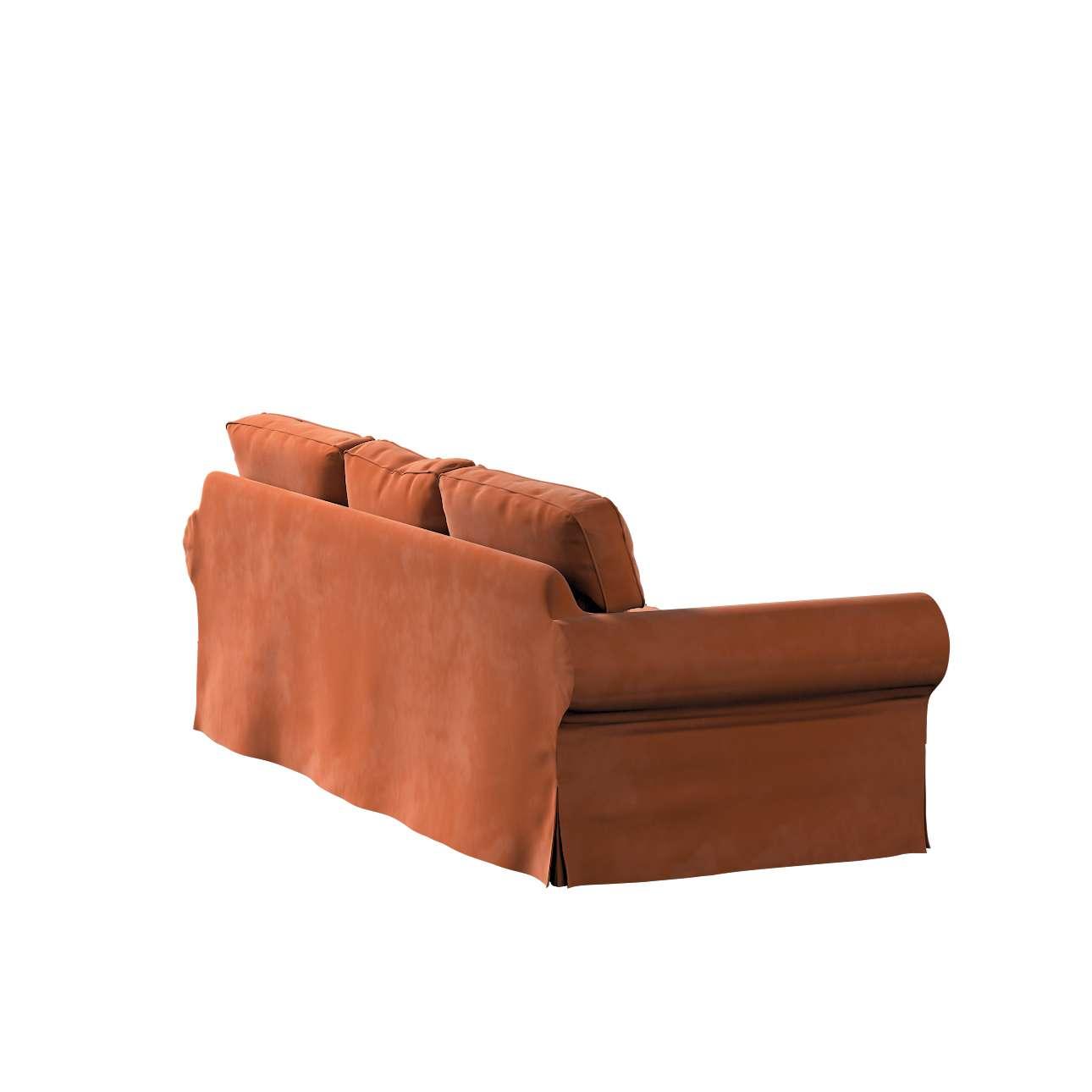 Pokrowiec na sofę Ektorp 3-osobową, rozkładaną, PIXBO w kolekcji Velvet, tkanina: 704-33