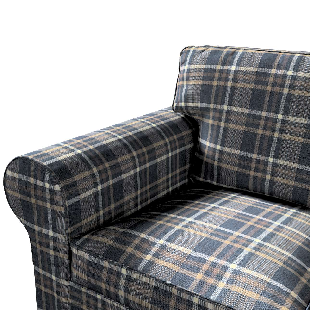 Pokrowiec na sofę Ektorp 3-osobową, rozkładaną, PIXBO w kolekcji Edinburgh, tkanina: 703-16