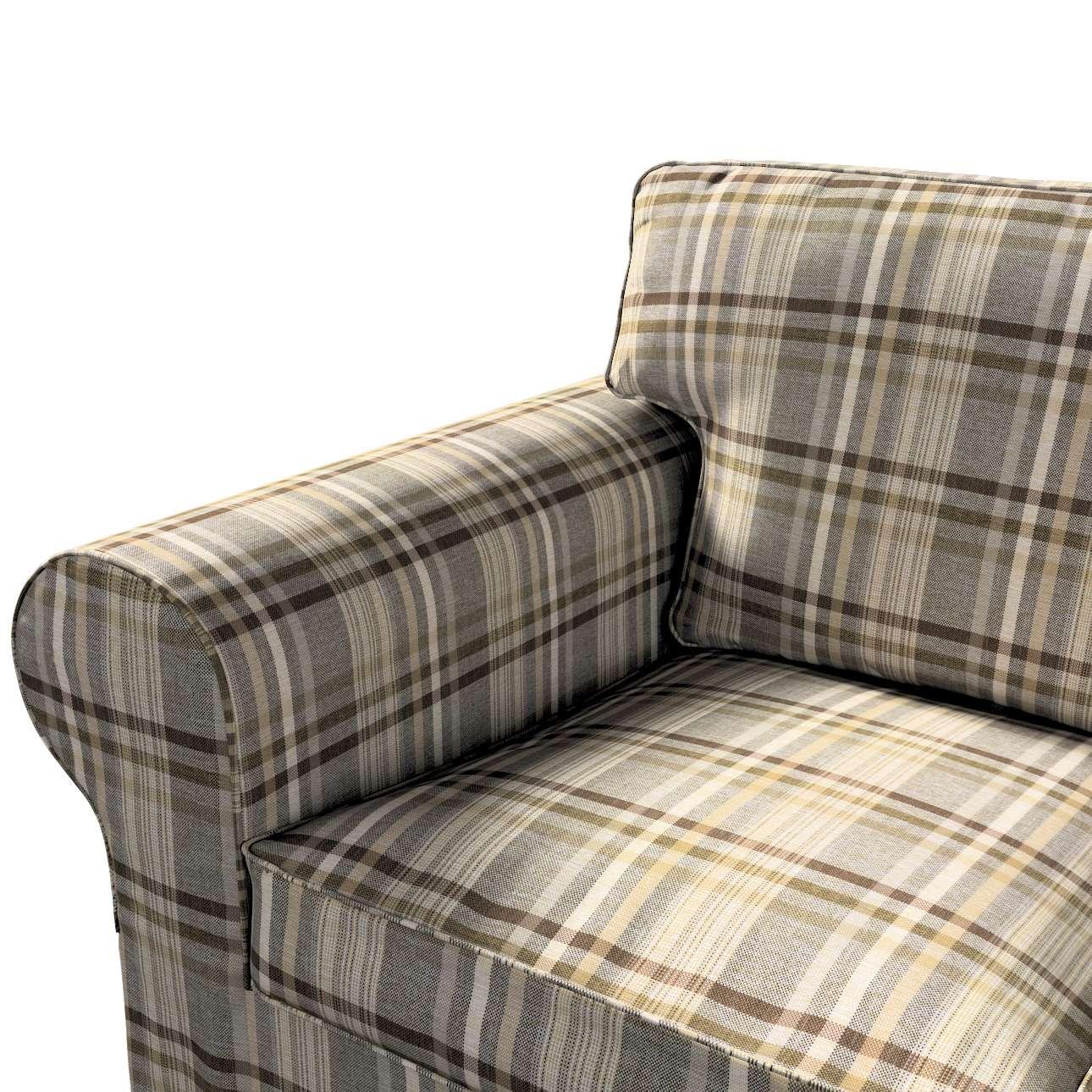Pokrowiec na sofę Ektorp 3-osobową, rozkładaną, PIXBO w kolekcji Edinburgh, tkanina: 703-17