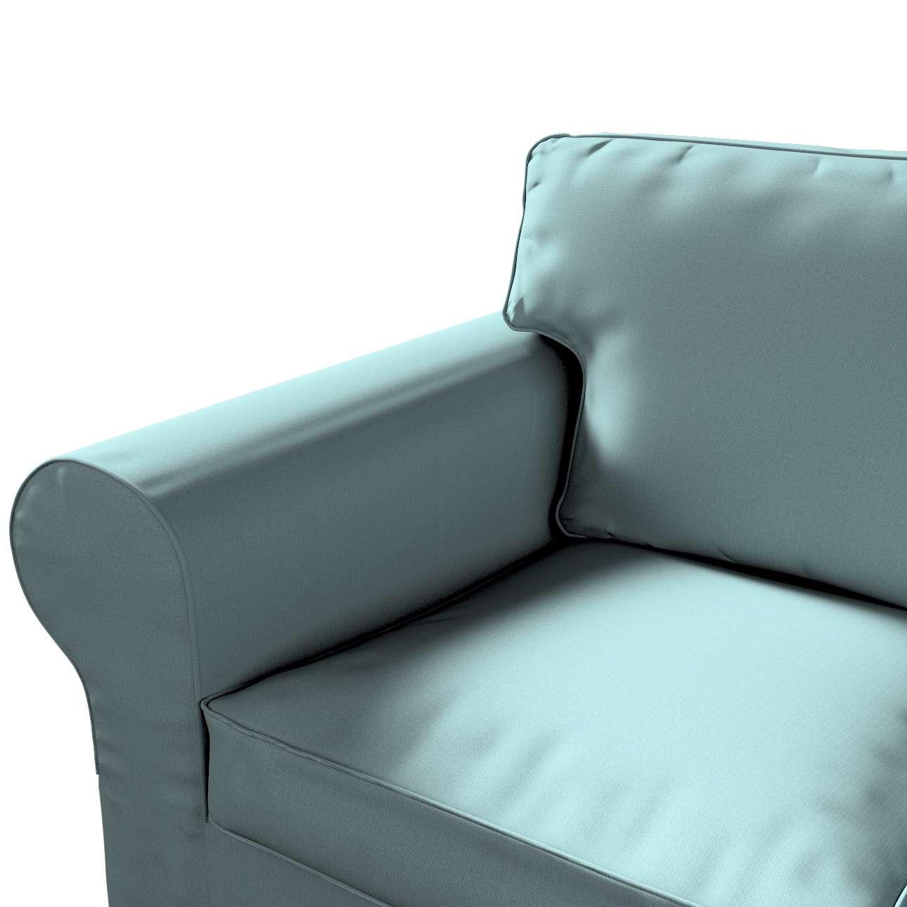 Pokrowiec na sofę Ektorp 3-osobową, rozkładaną, PIXBO w kolekcji Cotton Panama, tkanina: 702-40