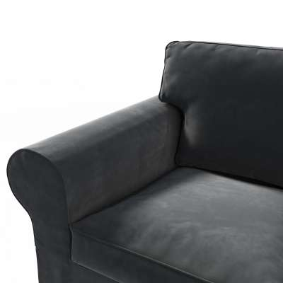 Ektorp trekk 2 seter sovesofa gammel model<br/>14cm bred rygg 704-17 Sort Kolleksjon Velvet
