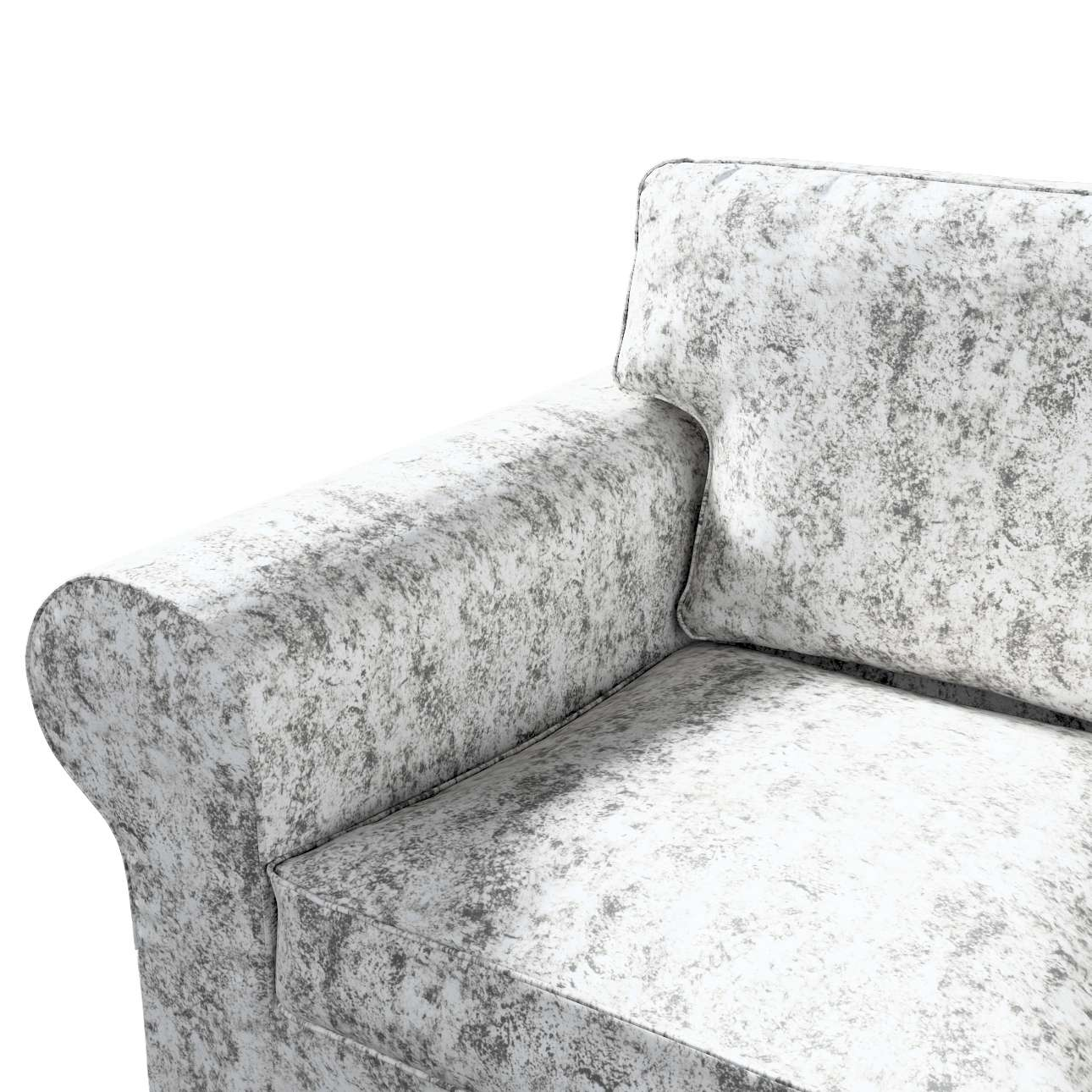 Pokrowiec na sofę Ektorp 2-osobową, rozkładaną, model do 2012 w kolekcji Velvet, tkanina: 704-49