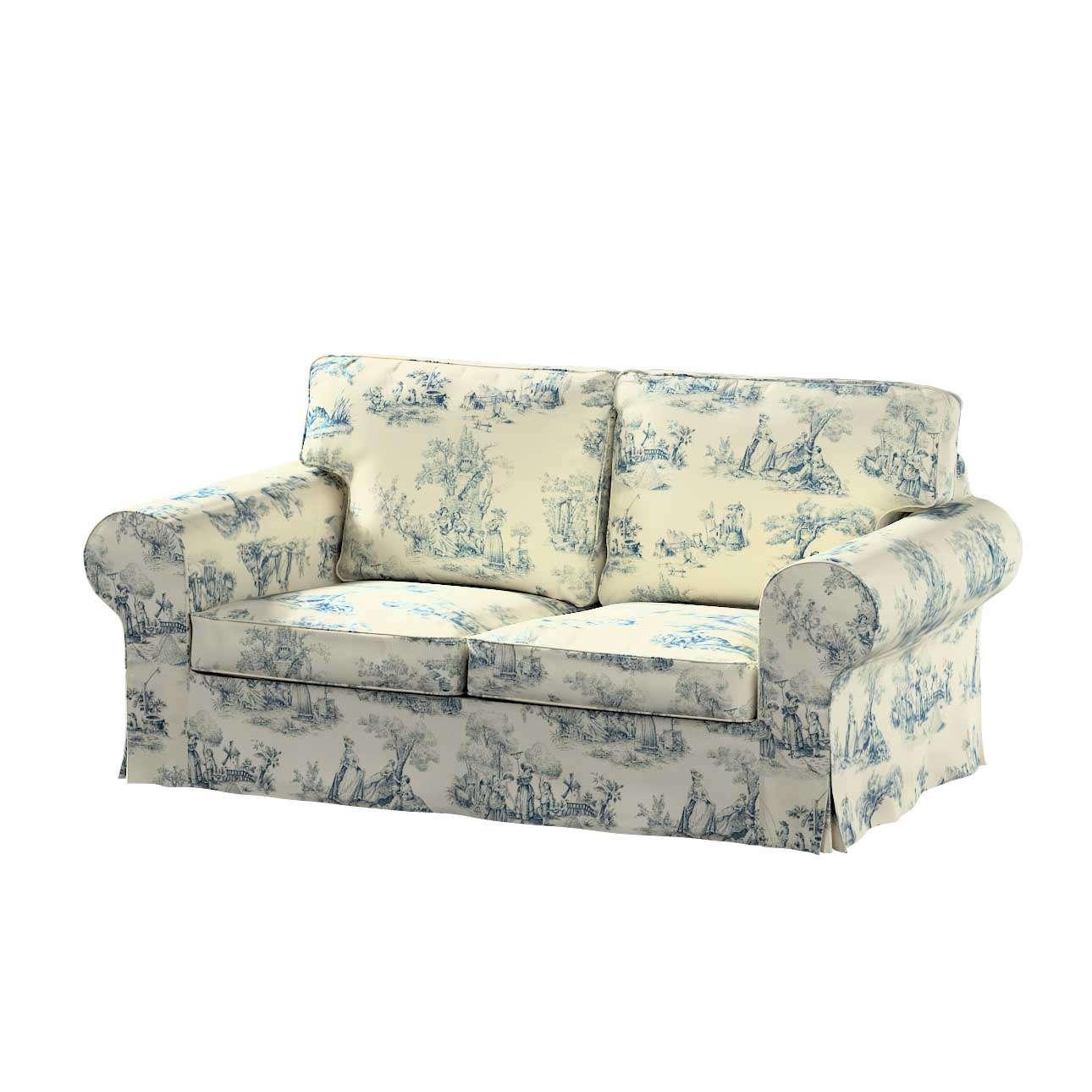 Ektorp betræk 2 sæder sovesofa gammel model<br/>Bredde ca 195cm fra kollektionen Avinon, Stof: 132-66