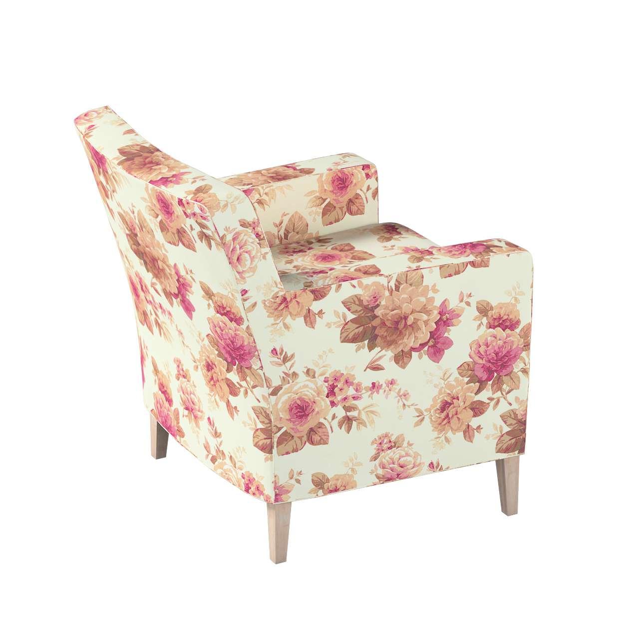 Pokrowiec na fotel Karlstad w kolekcji Londres, tkanina: 141-06