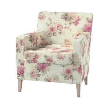 Pokrowiec na fotel Karlstad w kolekcji Mirella, tkanina: 141-07
