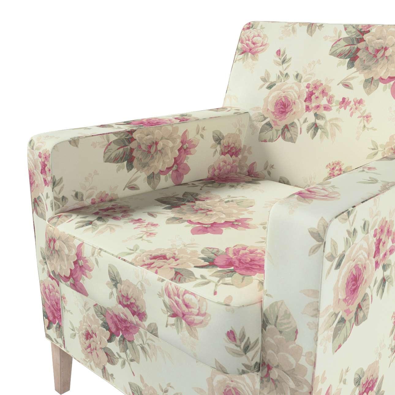 Pokrowiec na fotel Karlstad w kolekcji Londres, tkanina: 141-07