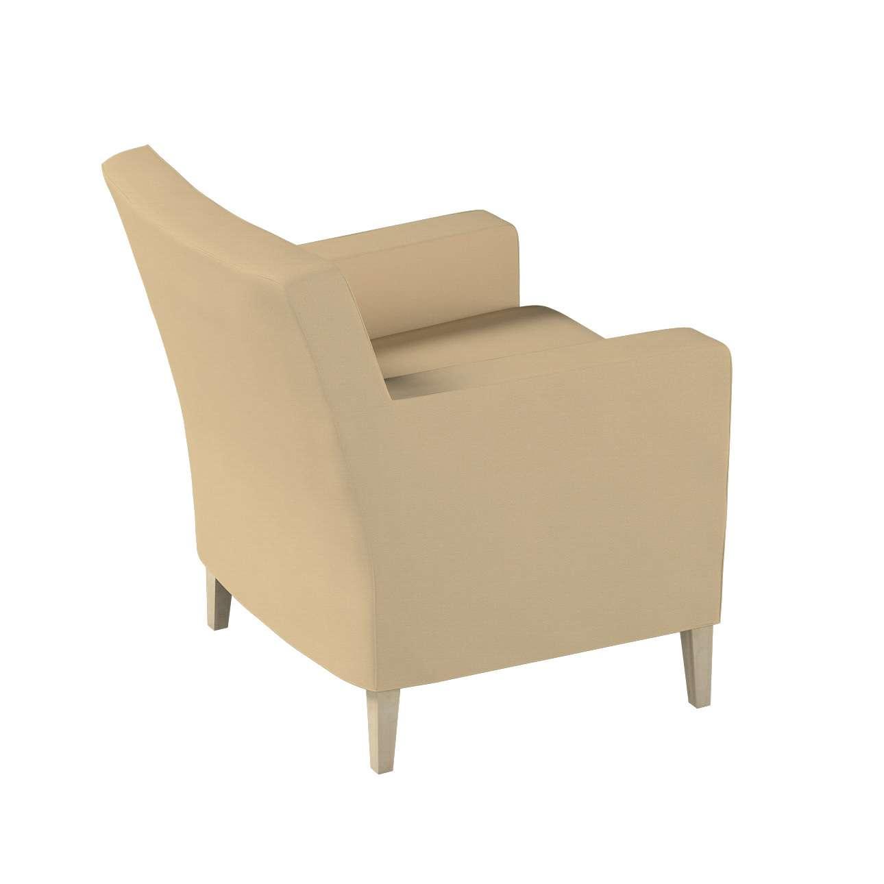 Pokrowiec na fotel Karlstad w kolekcji Cotton Panama, tkanina: 702-01