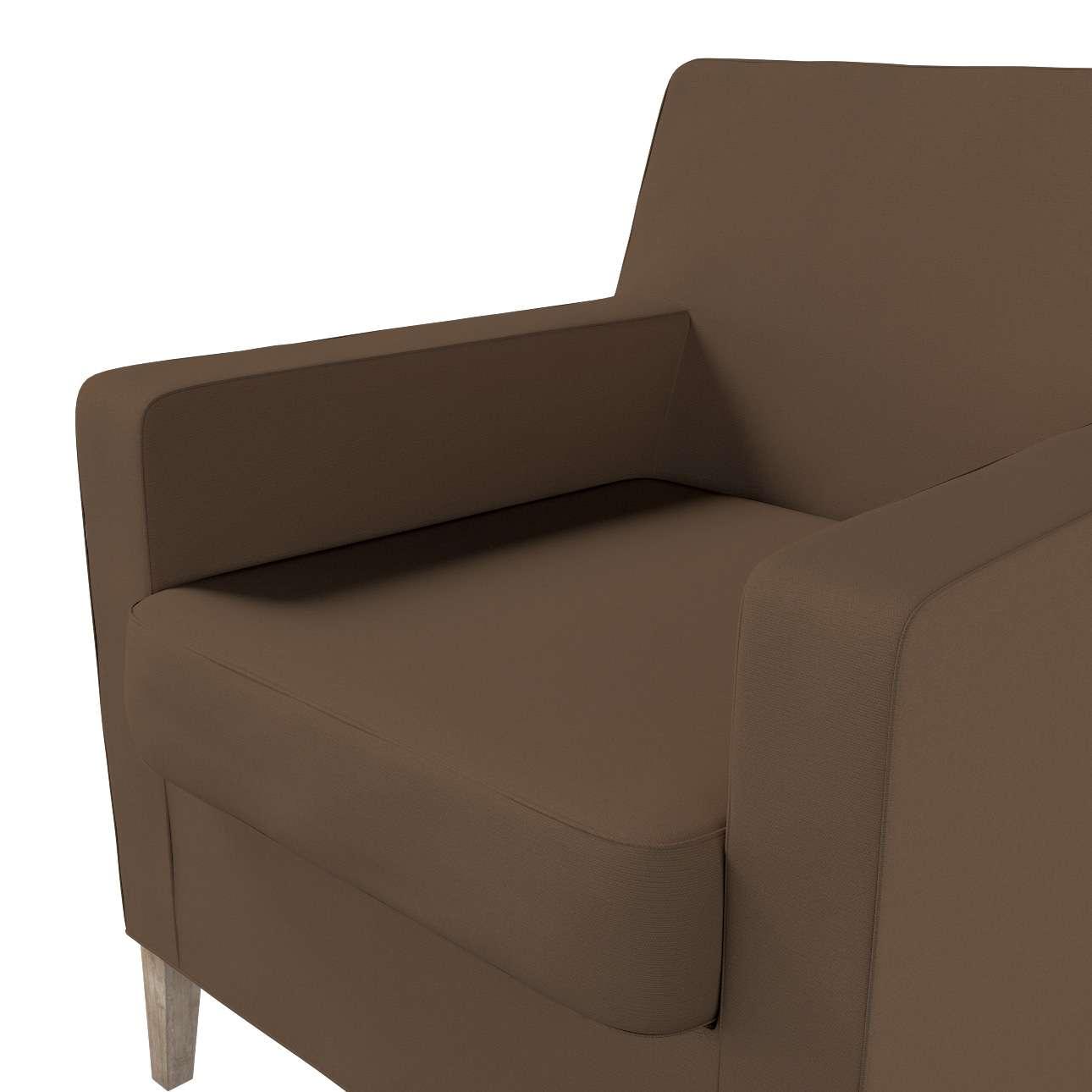 Pokrowiec na fotel Karlstad w kolekcji Cotton Panama, tkanina: 702-02