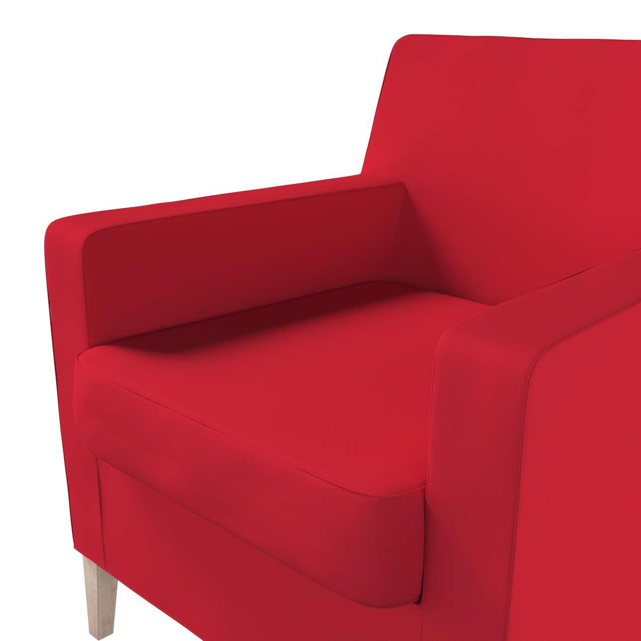 Pokrowiec na fotel Karlstad w kolekcji Cotton Panama, tkanina: 702-04