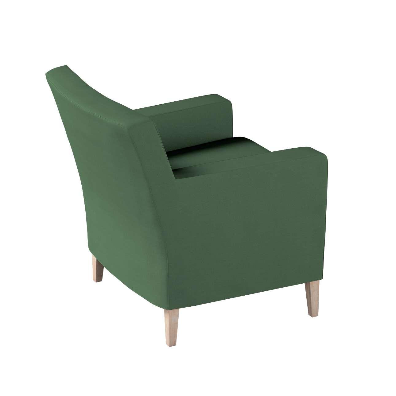 Pokrowiec na fotel Karlstad w kolekcji Cotton Panama, tkanina: 702-06