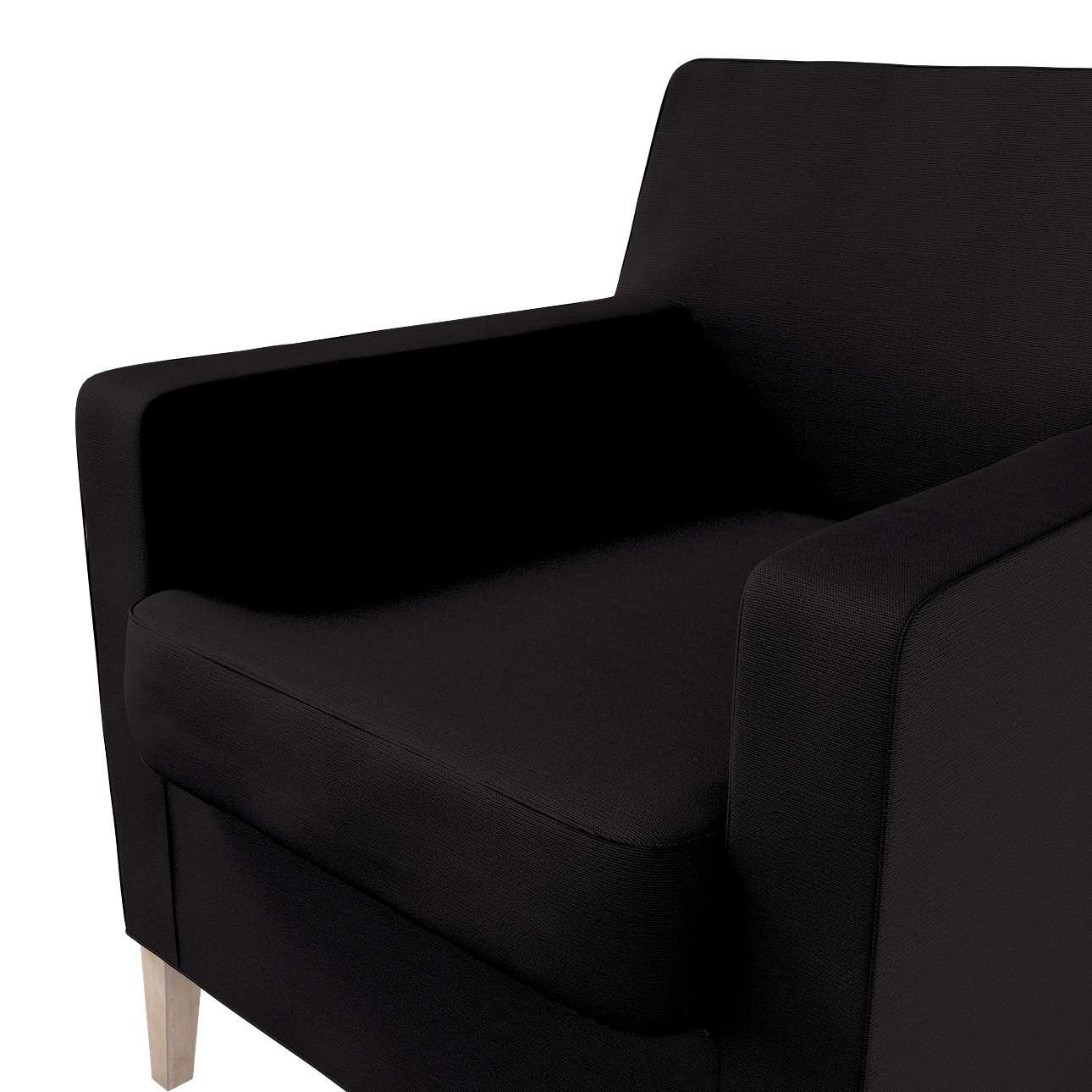 Pokrowiec na fotel Karlstad w kolekcji Cotton Panama, tkanina: 702-08