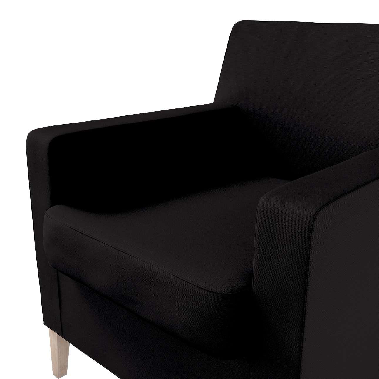 Pokrowiec na fotel Karlstad w kolekcji Cotton Panama, tkanina: 702-09