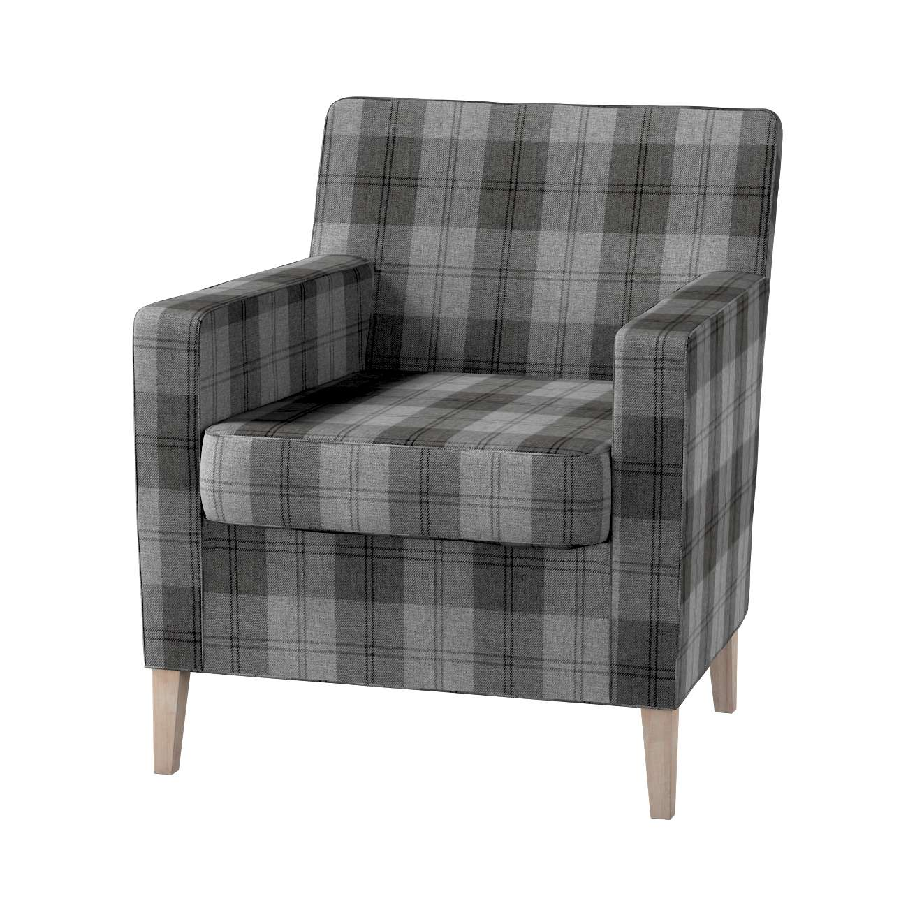Karlstad tall chair cover Karlstad armchair cover in collection Edinburgh, fabric: 115-75