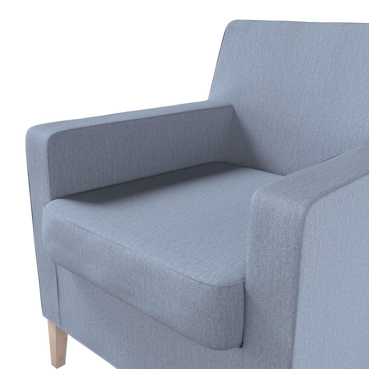 Pokrowiec na fotel Karlstad w kolekcji Chenille, tkanina: 702-13