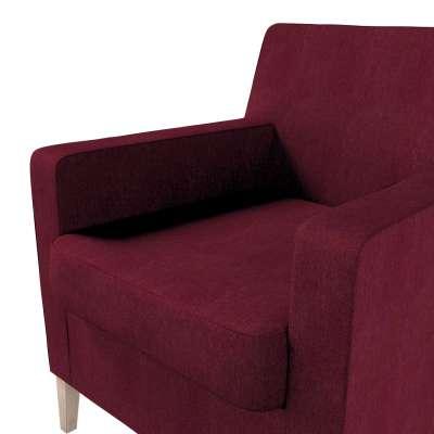 Pokrowiec na fotel Karlstad w kolekcji Chenille, tkanina: 702-19