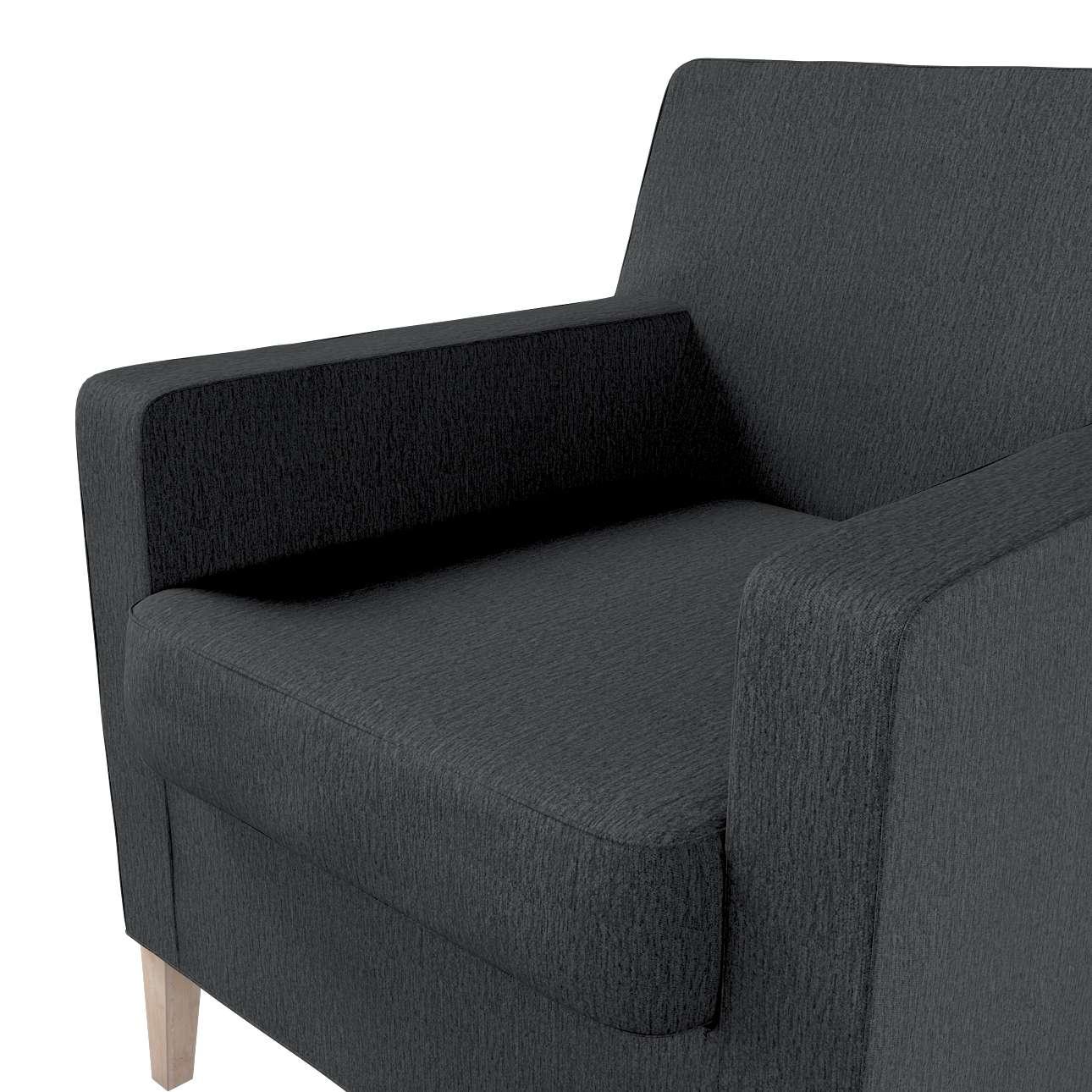 Pokrowiec na fotel Karlstad w kolekcji Chenille, tkanina: 702-20