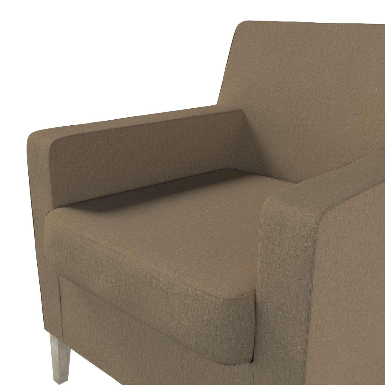 Pokrowiec na fotel Karlstad w kolekcji Chenille, tkanina: 702-21