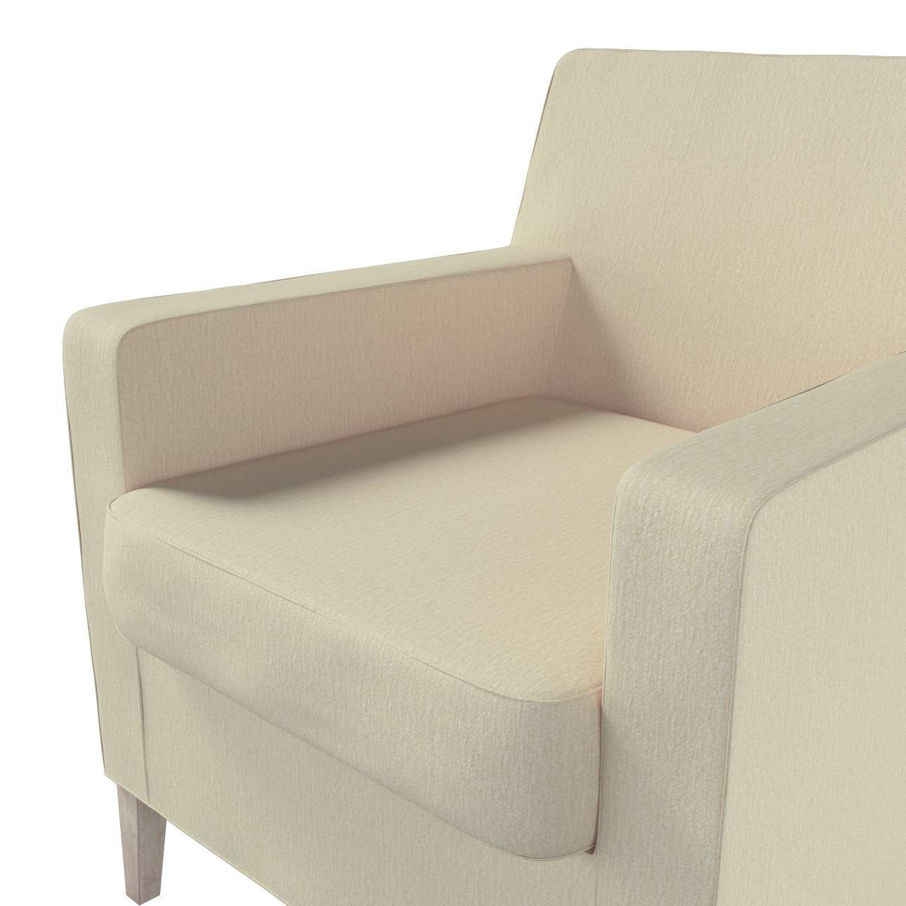 Pokrowiec na fotel Karlstad w kolekcji Chenille, tkanina: 702-22