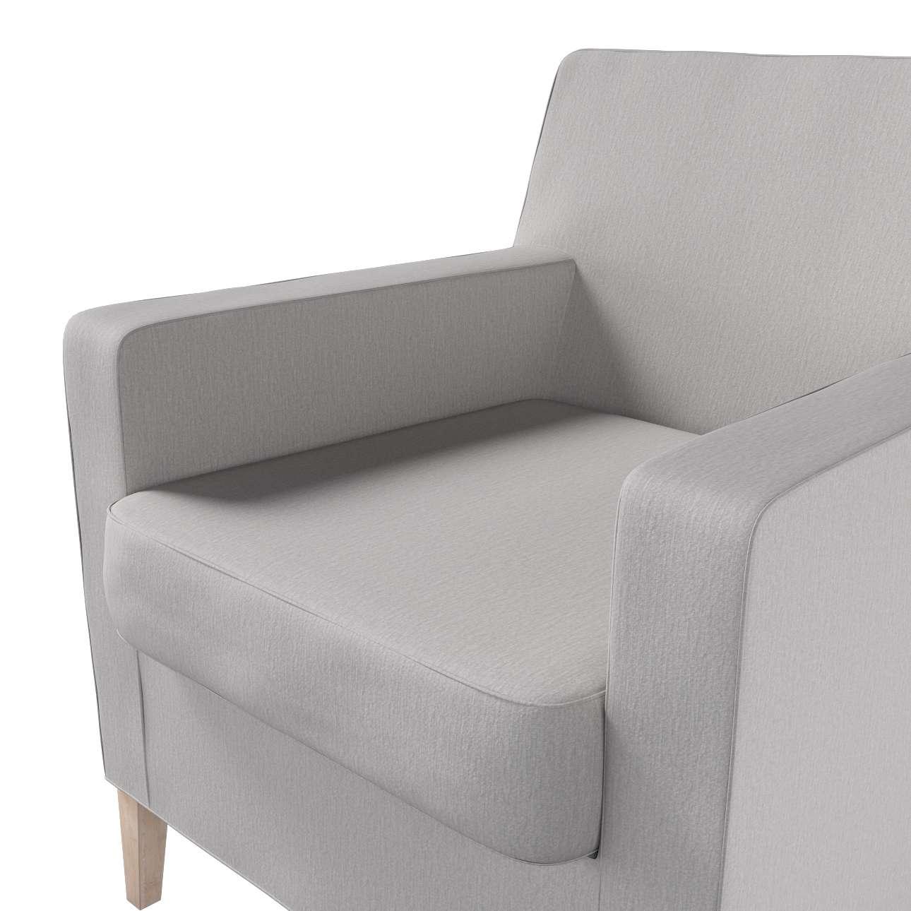 Pokrowiec na fotel Karlstad w kolekcji Chenille, tkanina: 702-23