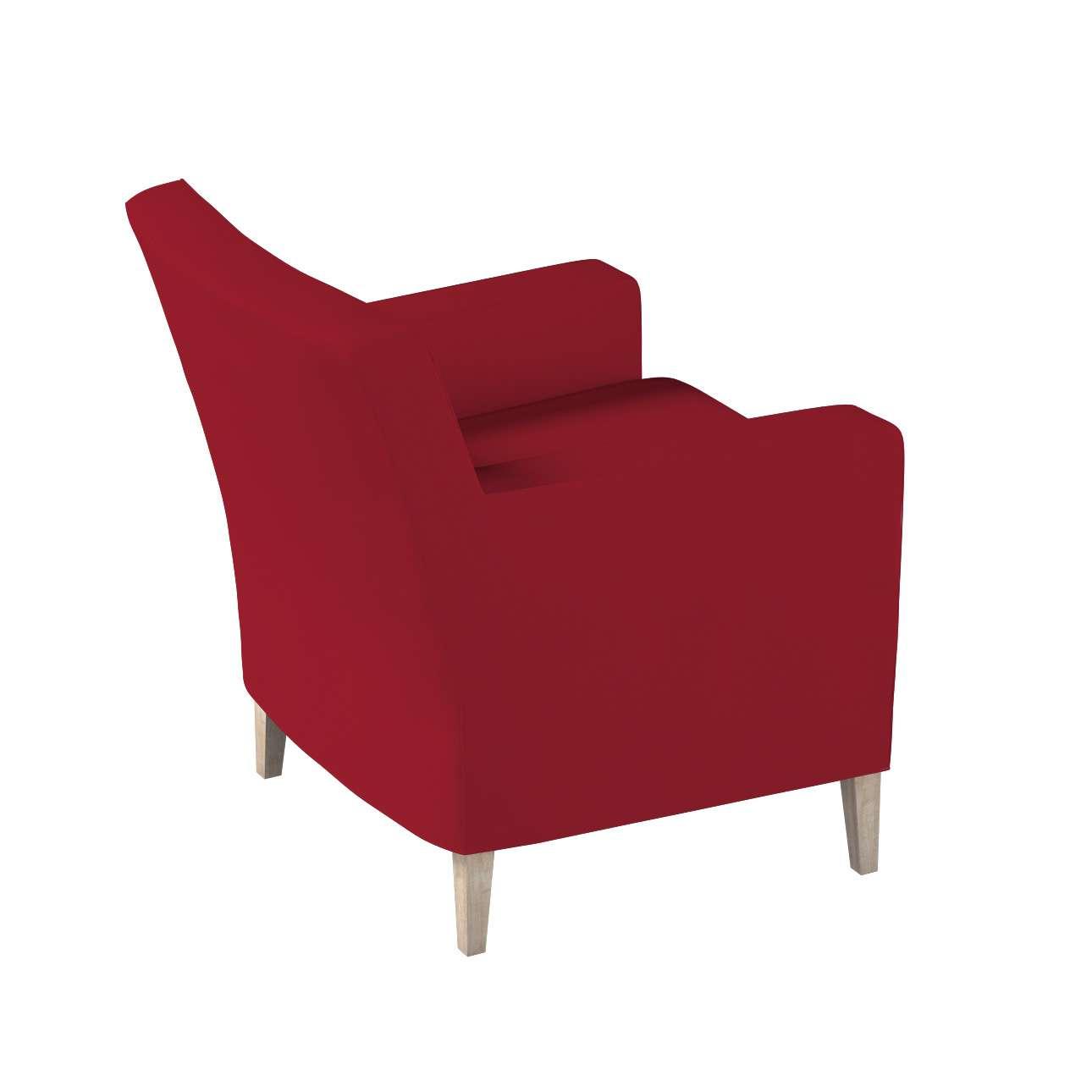 Pokrowiec na fotel Karlstad w kolekcji Chenille, tkanina: 702-24