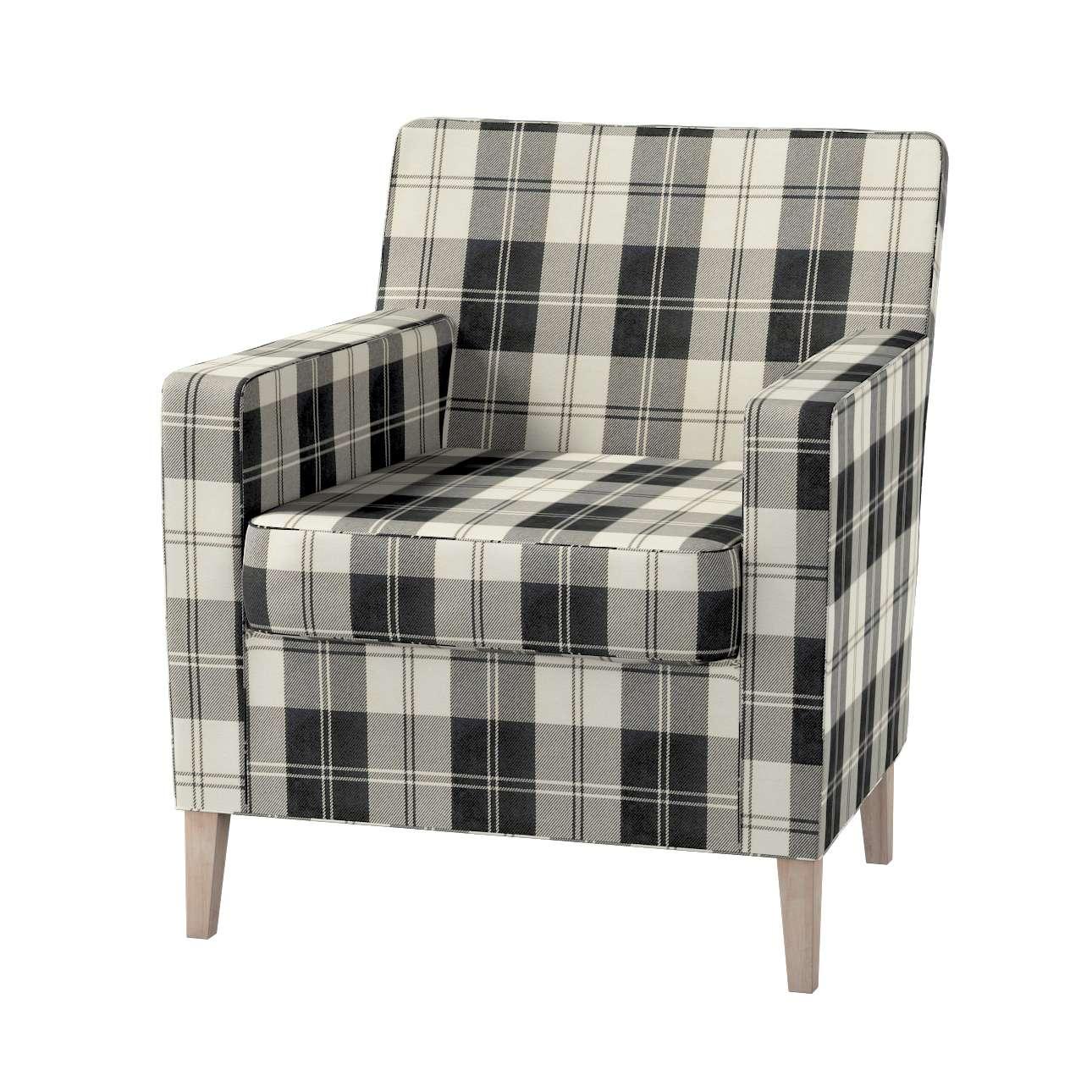Pokrowiec na fotel Karlstad w kolekcji Edinburgh, tkanina: 115-74