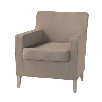 Karlstad tall chair cover Karlstad armchair cover in collection Cotton Panama, fabric: 702-28