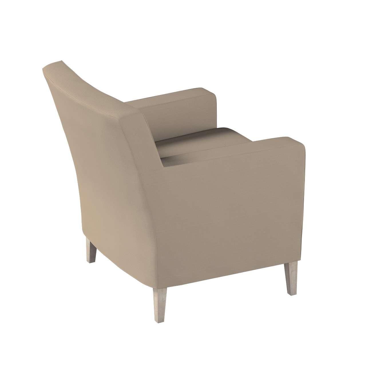 Pokrowiec na fotel Karlstad w kolekcji Cotton Panama, tkanina: 702-28