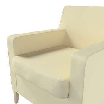 Karlstad tall chair cover in collection Panama Cotton, fabric: 702-29