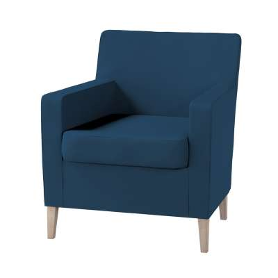 Pokrowiec na fotel Karlstad w kolekcji Cotton Panama, tkanina: 702-30