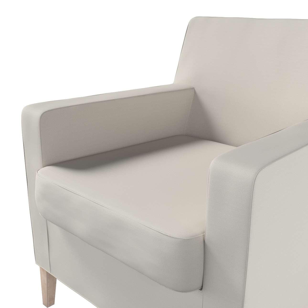 Pokrowiec na fotel Karlstad w kolekcji Cotton Panama, tkanina: 702-31