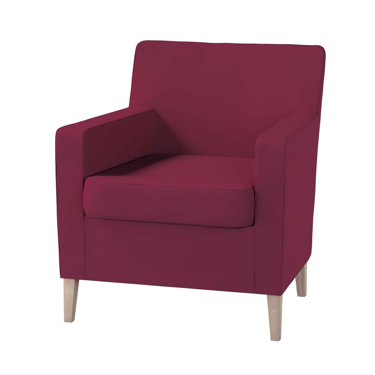 Karlstad fotelio-kėdės užvalkalas kolekcijoje Cotton Panama, audinys: 702-32