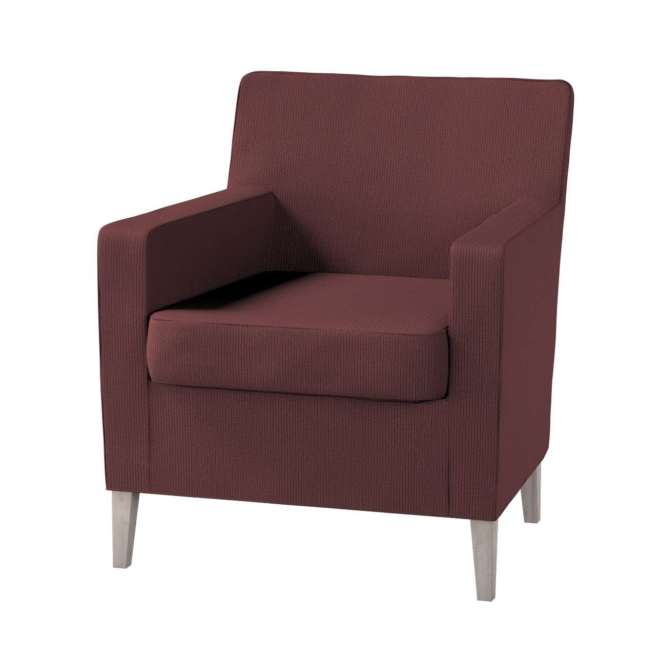 Karlstad tall chair cover Karlstad armchair cover in collection Manchester, fabric: 103-56