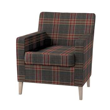 Karlstad tall chair cover Karlstad armchair cover in collection Edinburgh, fabric: 115-72