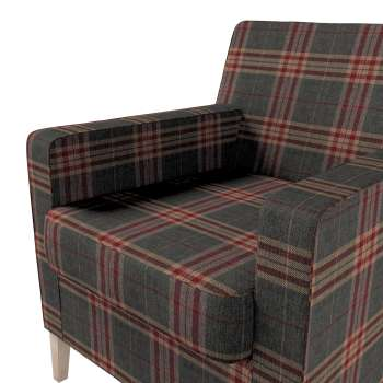 Karlstad tall chair cover in collection Edinburgh, fabric: 115-72