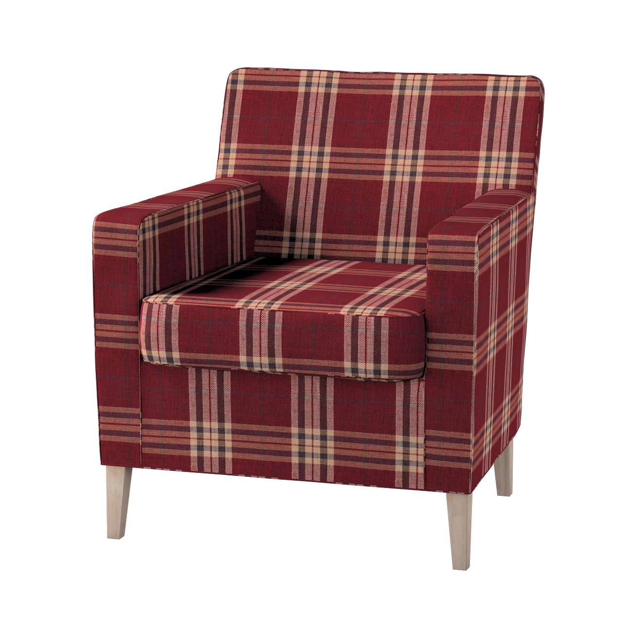 Karlstad tall chair cover Karlstad armchair cover in collection Edinburgh, fabric: 115-73