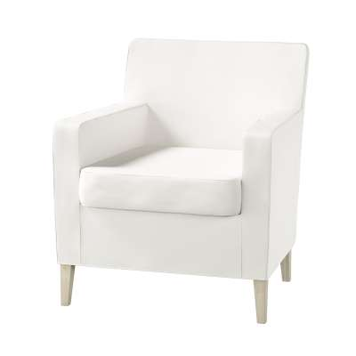 Pokrowiec na fotel Karlstad w kolekcji Cotton Panama, tkanina: 702-34