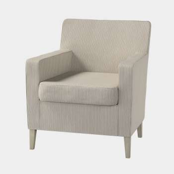 Karlstad tall chair cover Karlstad armchair cover in collection Living, fabric: 105-90