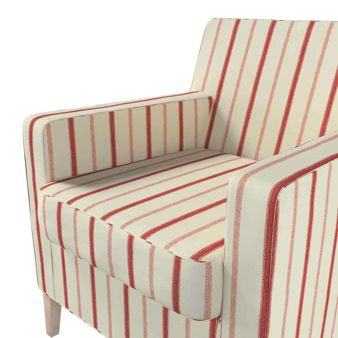 Pokrowiec na fotel Karlstad w kolekcji Avinon, tkanina: 129-15