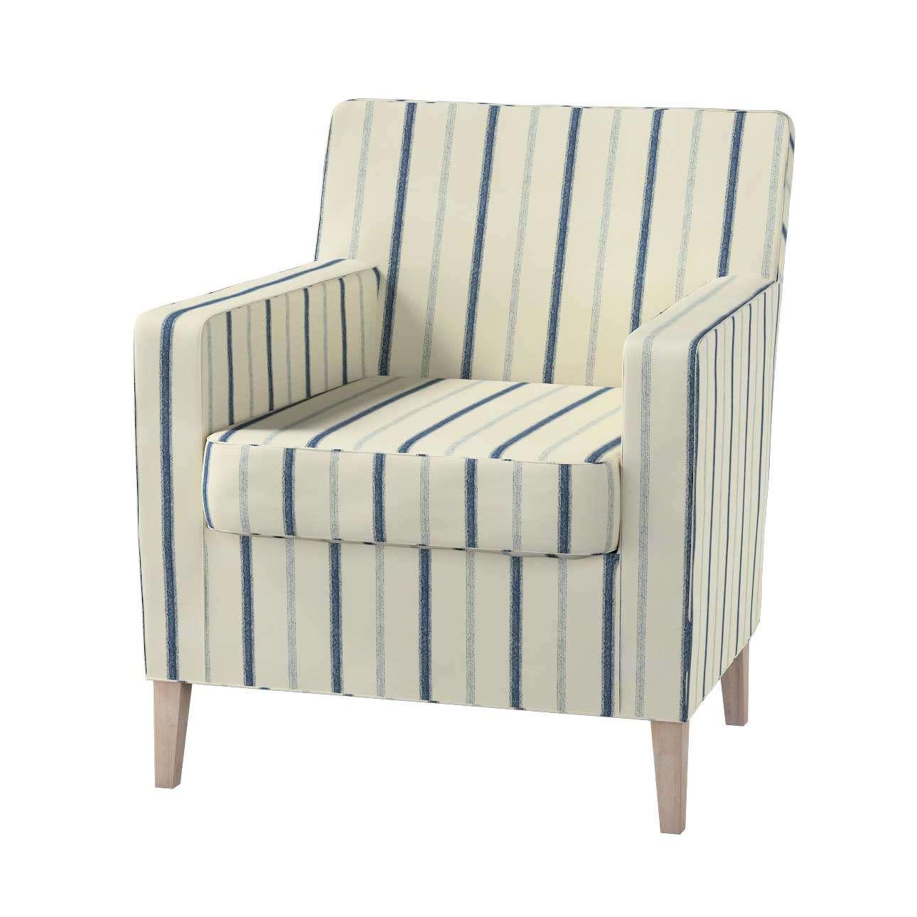 Pokrowiec na fotel Karlstad w kolekcji Avinon, tkanina: 129-66