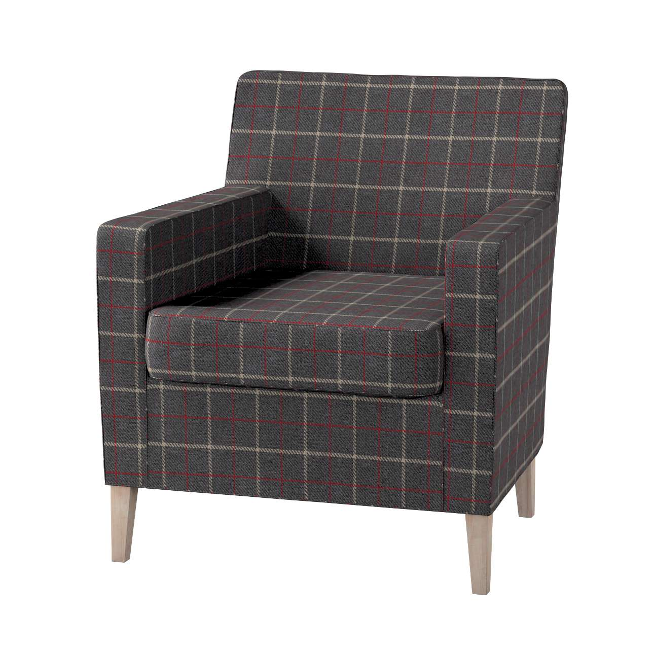 Karlstad tall chair cover Karlstad armchair cover in collection Edinburgh, fabric: 703-15