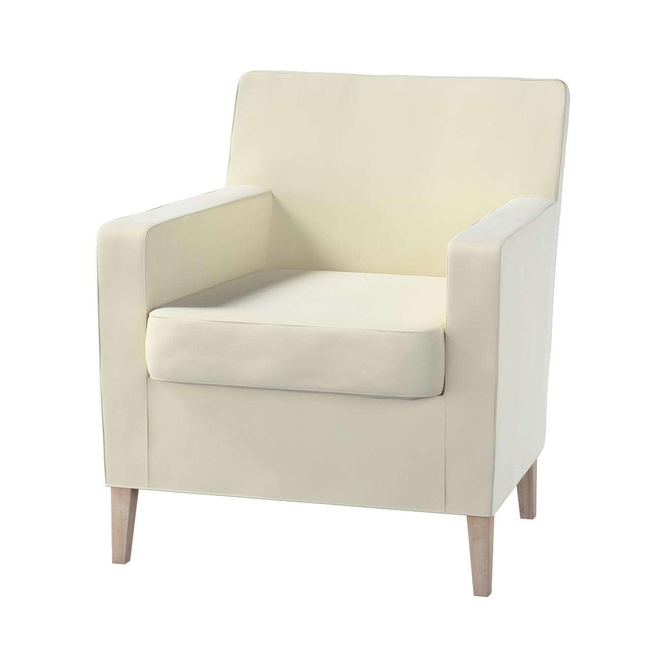 Pokrowiec na fotel Karlstad w kolekcji Velvet, tkanina: 704-10