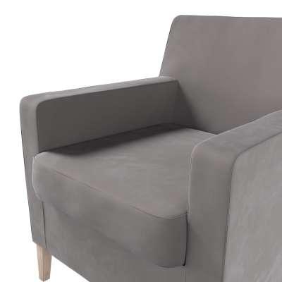 Pokrowiec na fotel Karlstad w kolekcji Velvet, tkanina: 704-11