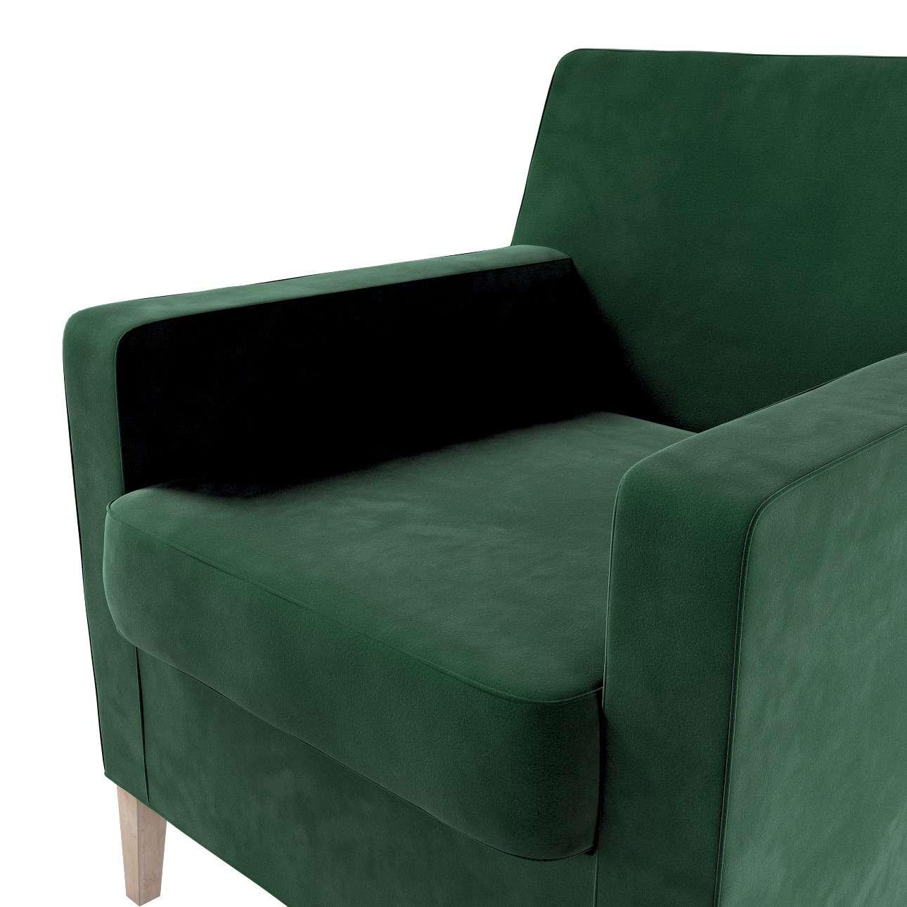 Pokrowiec na fotel Karlstad w kolekcji Velvet, tkanina: 704-13