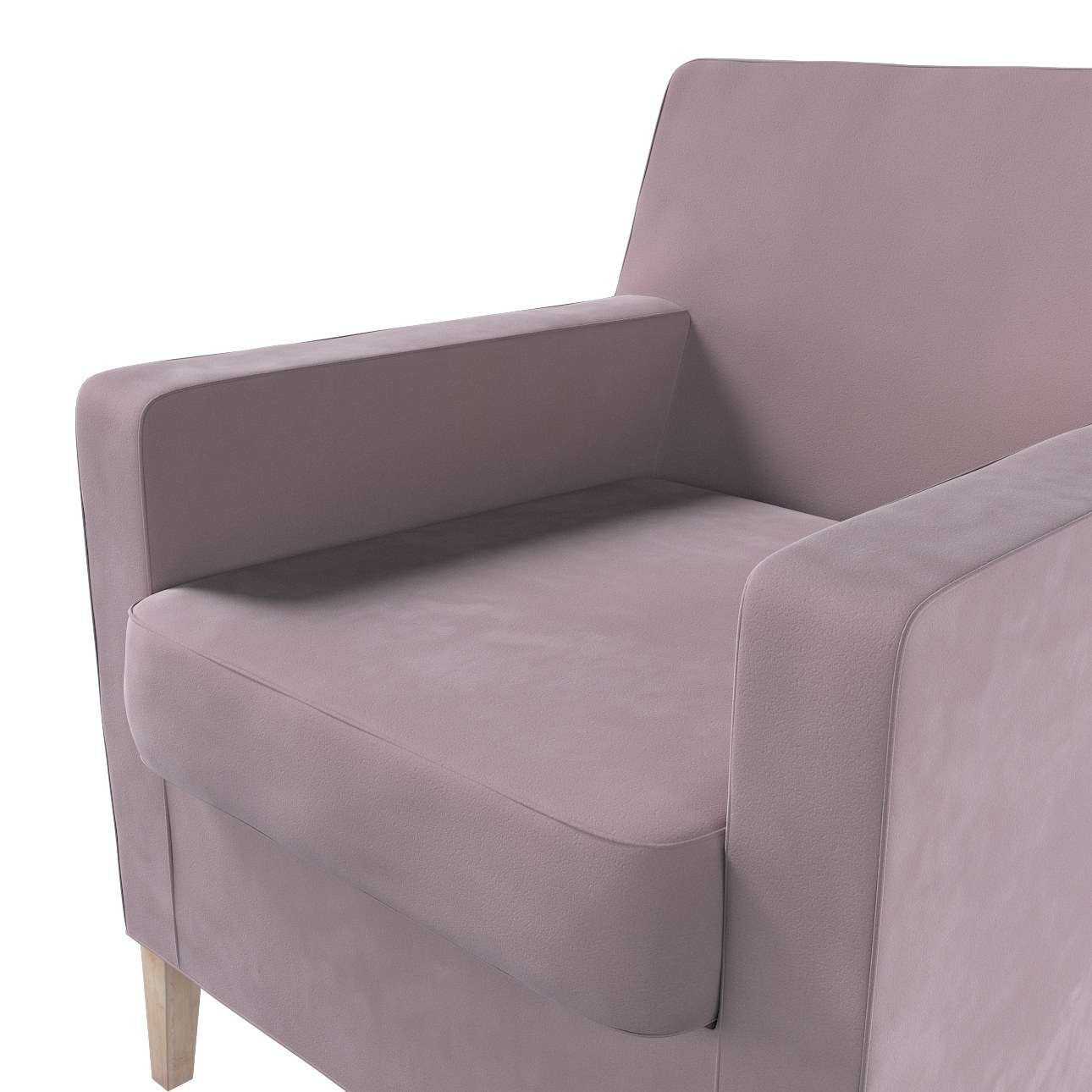 Pokrowiec na fotel Karlstad w kolekcji Velvet, tkanina: 704-14