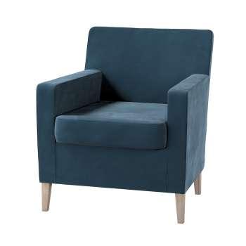 Pokrowiec na fotel Karlstad w kolekcji Velvet, tkanina: 704-16